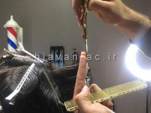 آموزش اصلاح موی مردانه با قیچی