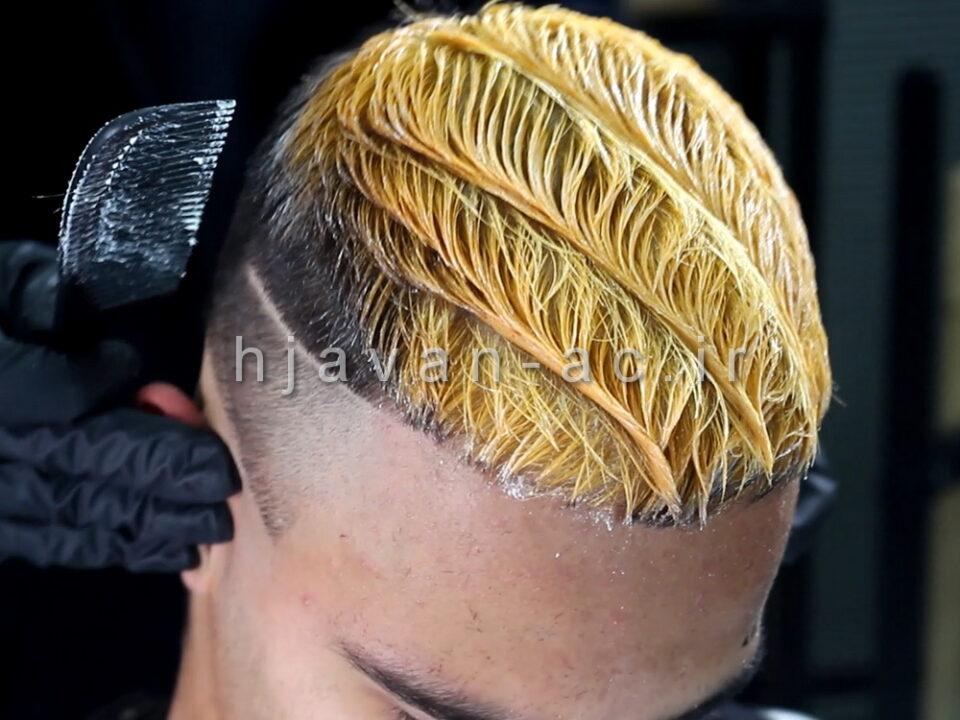 آموزشگاه رنگ موی مردانه