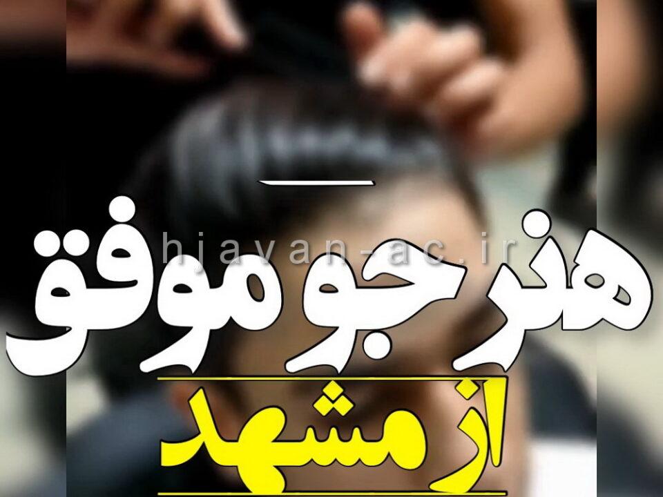 هنرجوی موفق آموزش آرایشگری مردانه از مشهد